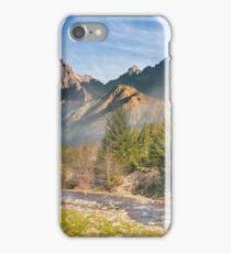 Mountain river in autumn forest iPhone Case/Skin