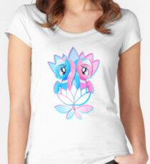 Aloe and Lotus Blossom Women's Fitted Scoop T-Shirt