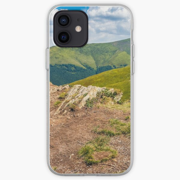 meadow with boulders in Carpathian mountains in summer iPhone Soft Case