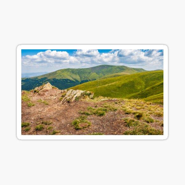 meadow with boulders in Carpathian mountains in summer Sticker