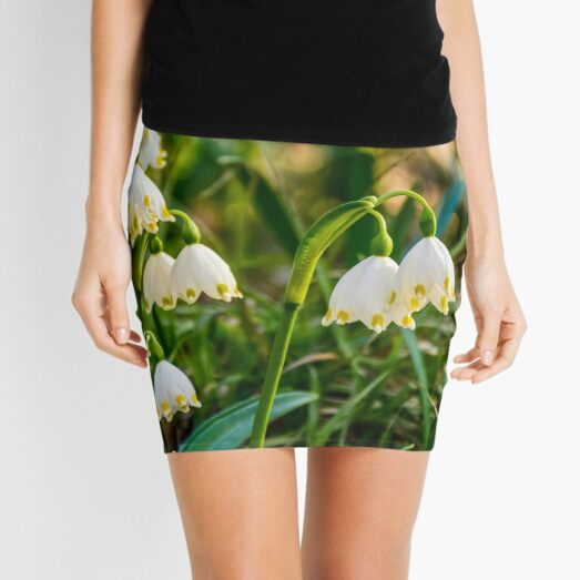 snowflake, first flowers of spring Mini Skirt