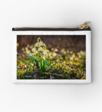 snowflake, first flowers of spring Studio Pouch