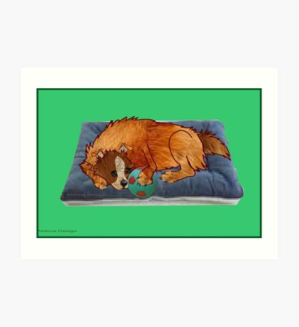 A relaxed dog [1994  views] Art Print