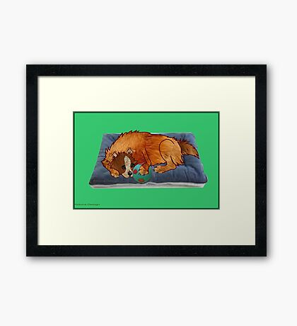 A relaxed dog [1994  views] Framed Print