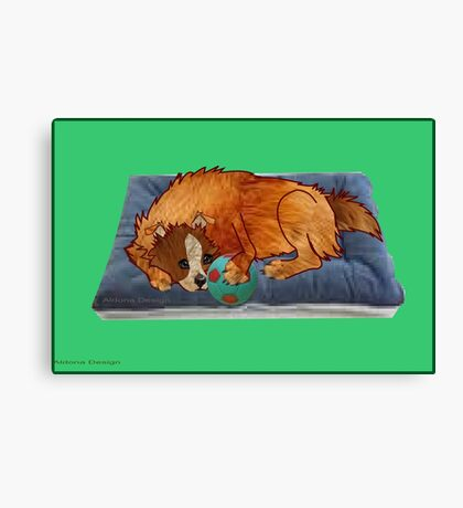 A relaxed dog [1994  views] Canvas Print