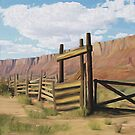 Old Corral Gate by Walter Colvin