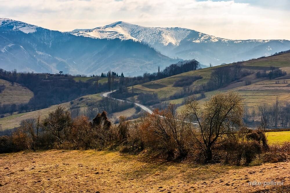 snowy peaks of Carpathian mountain ridge by mike-pellinni