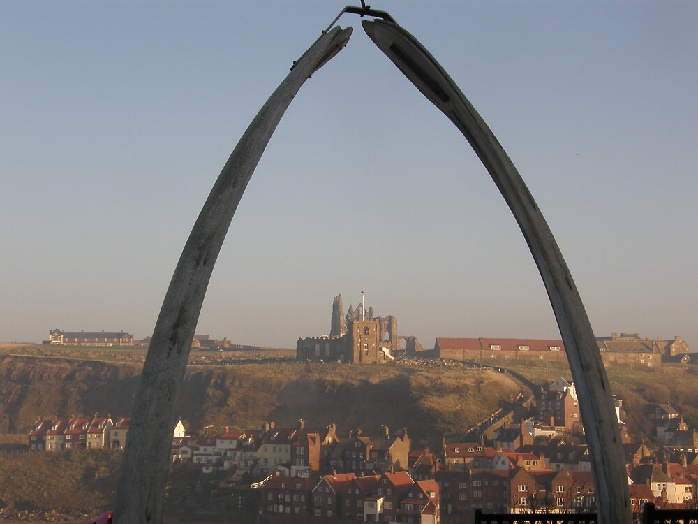 Whale Bones and Whitby Abbey by CharcoalPoet