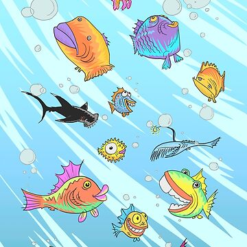 Weird Funny Fish by Lines