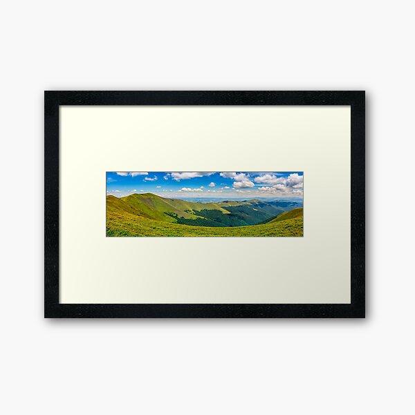 hillside panorama in mountains Framed Art Print