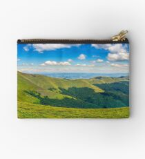hillside panorama in mountains Studio Pouch