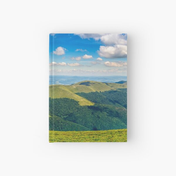 hillside panorama in mountains Hardcover Journal