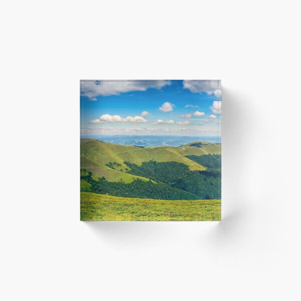 hillside panorama in mountains Acrylic Block