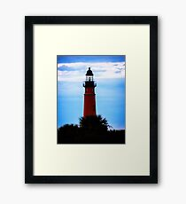 Ponce de Leon Lighthouse near Daytona Beach in Florida Framed Print