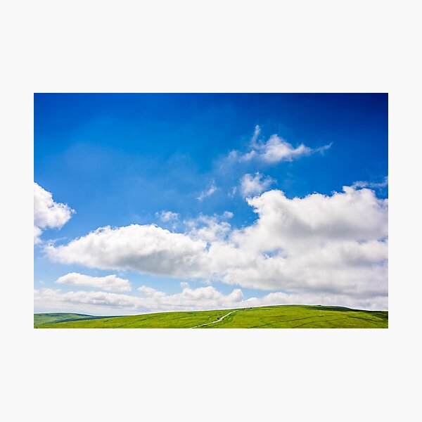 beautifull minimalistic summer mountain landscape in good weather Photographic Print