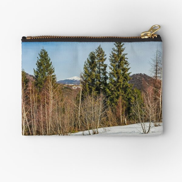 spring has sprung in mountain forest Zipper Pouch