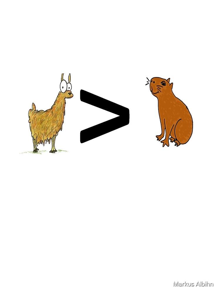 Llama > Capybara by videogamer1999