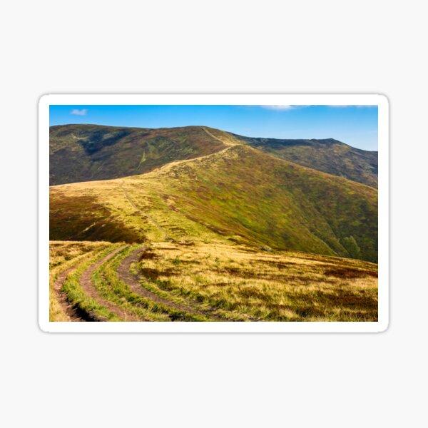 road through the mountain ridge Sticker