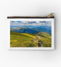 meadow with boulders in Carpathian mountains in summer Studio Pouch