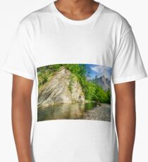 trees near the river in mountains Long T-Shirt