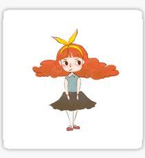Red Hair Gal Sticker