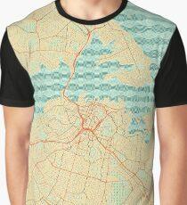 Auckland Map Retro Graphic T-Shirt