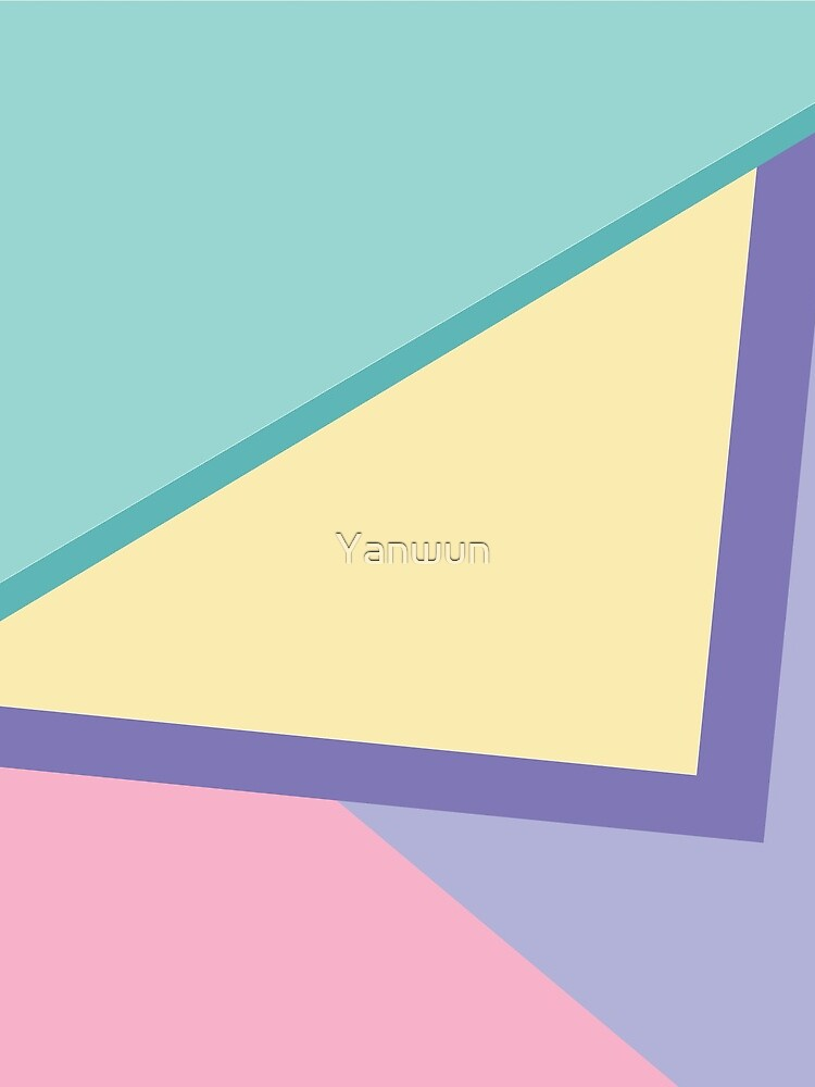 90s vibe pastel color blocks by Yanwun
