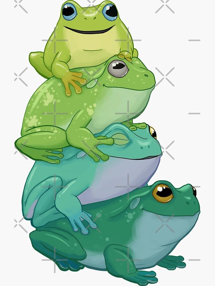 Sticky frog stack by Kmoonleaf