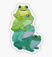 Sticky frog stack Sticker