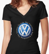 VW Answer to the universe Women's Fitted V-Neck T-Shirt