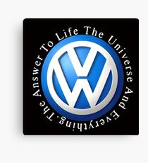 VW Answer to the universe Canvas Print