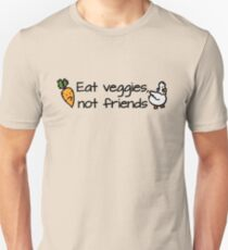 Eat veggies not friends Slim Fit T-Shirt