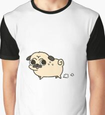 Concerned Running Pug Graphic T-Shirt