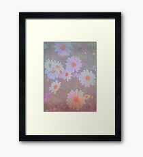 Painterly White Daisies Potted Flowers Framed Print