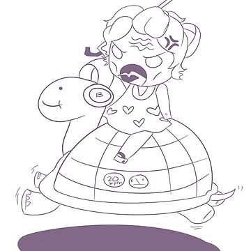 grandma and her flying turtle  by frozenpillows