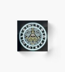 Bloque acrílico Gravity Falls Bill Cipher Wheel