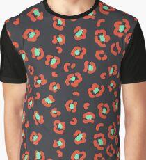 Art leopard red spots pattern Graphic T-Shirt