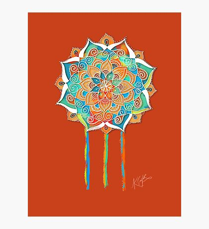 Tangerine Dream Mandala Photographic Print