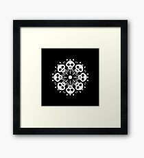 Skull Flower Pattern Framed Print