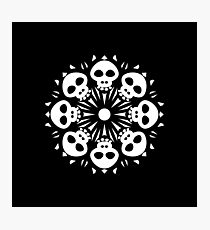 Skull Flower Pattern Photographic Print