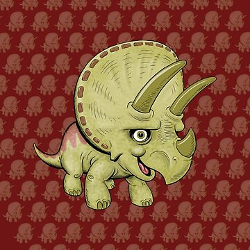 Cute Triceratops by Lines