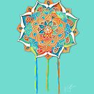 Turquoise Peace Mandala by © Karin Taylor