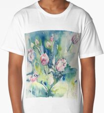 Spring watercolour tulips Long T-Shirt