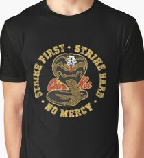 Cobra Kai - Strike First - Strike Hard - No Mercy - HD Distressed Variant 3 Graphic T-Shirt