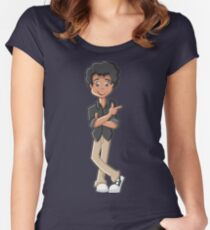 Shirts, girl shirts, man, woman with painting, drawings, graphics, of the most beautiful qualities Women's Fitted Scoop T-Shirt