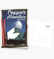 Colorado travel poster Copper Mountain Postcards