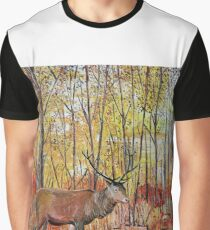 Highland red deer / stag in autumn forest Graphic T-Shirt