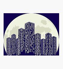 CITY MOON Photographic Print