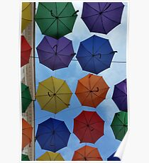Colorful umbrellas Poster
