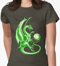greeen dragon Womens Fitted T-Shirt